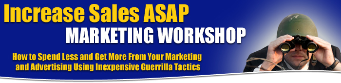 Increase Sales ASAP Marketing Workshop